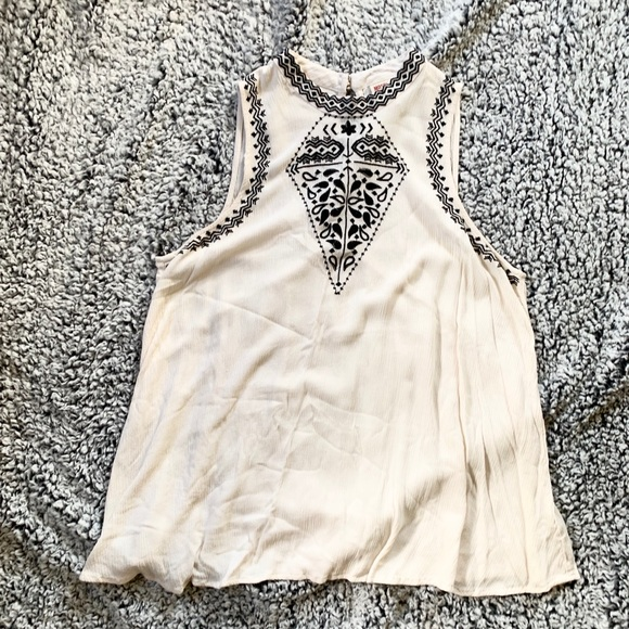 Mossimo Supply Co. Tops - High Neck Embroidered Tank
